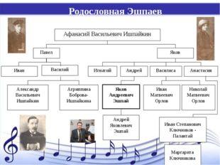 Родословная Эшпаев Иван Степанович Ключников - Палантай Маргарита Ключникова