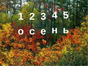 12345 осень