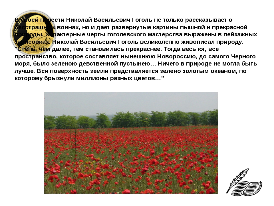 В своей повести Николай Васильевич Гоголь не только рассказывает о бесстрашны...