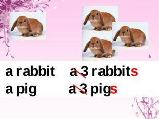 a rabbit a 3 rabbits a pig a 3 pigs