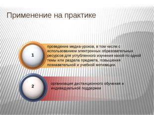 Применение на практике проведение медиа-уроков, в том числе с использованием