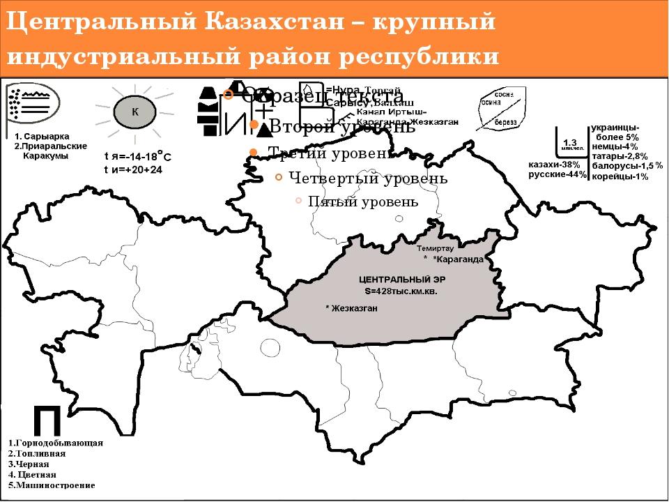 Центральный Казахстан – крупный индустриальный район республики