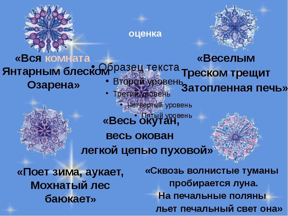 «Вся комната Янтарным блеском Озарена» «Веселым Треском трещит Затопленная п...