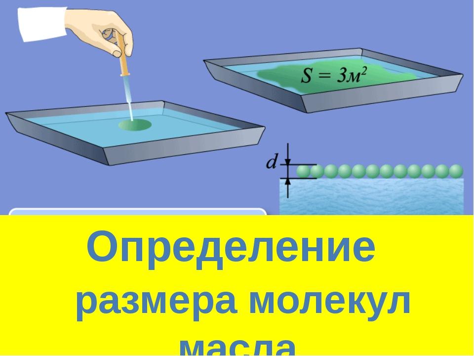Определение размера молекул масла