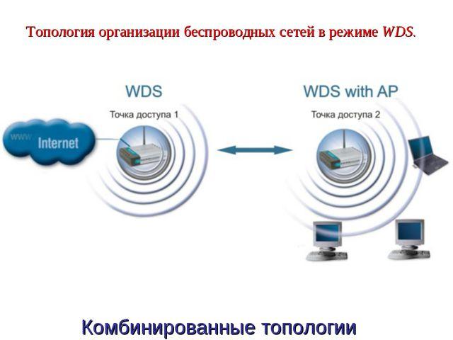 Топология организации беспроводных сетей в режимеWDS. Комбинированные топол...