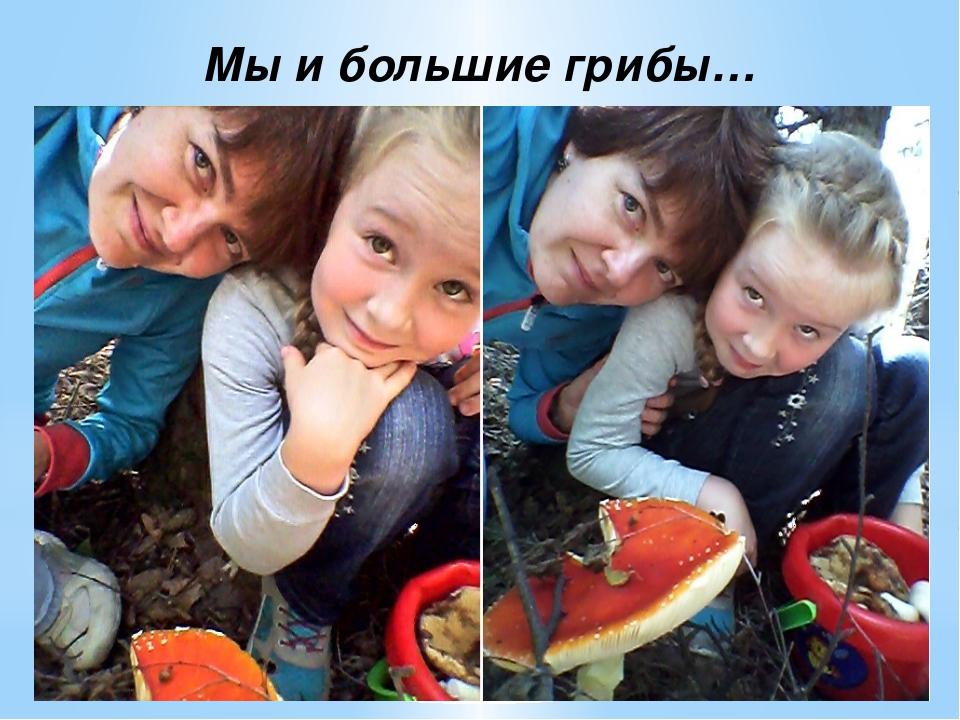 Мы и большие грибы…