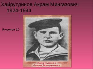 Хайрутдинов Акрам Мингазович 1924-1944 Рисунок 10