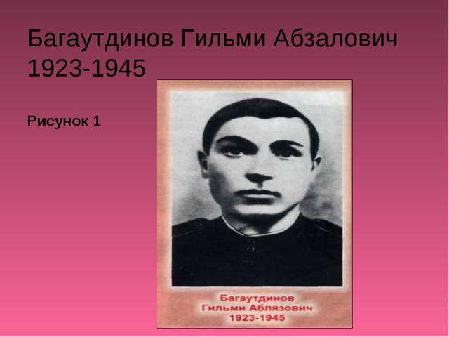 Багаутдинов Гильми Абзалович 1923-1945 Рисунок 1