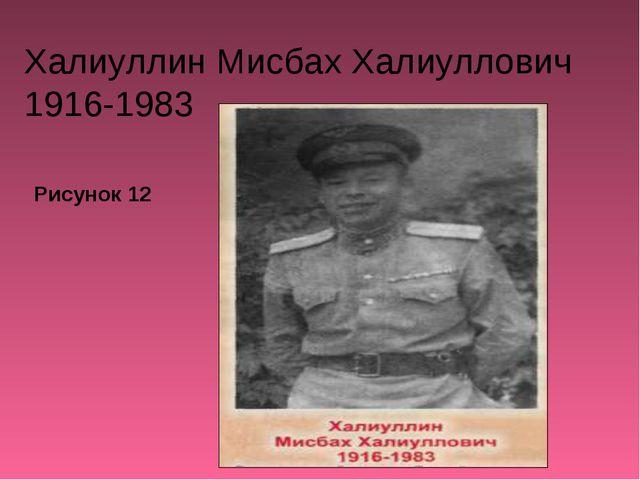 Халиуллин Мисбах Халиуллович 1916-1983 Рисунок 12