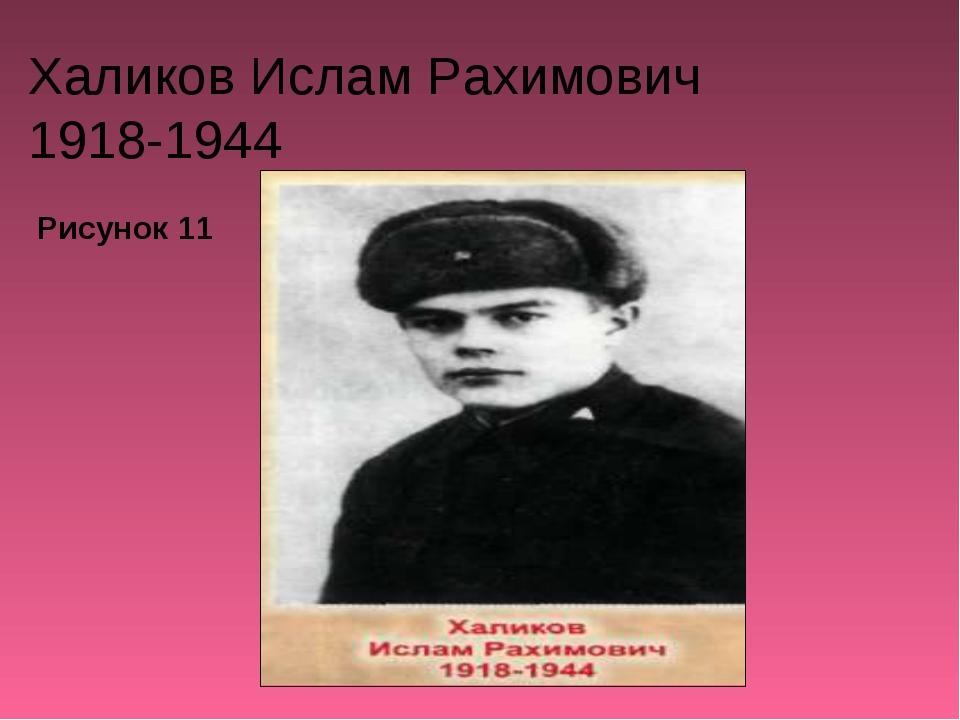 Халиков Ислам Рахимович 1918-1944 Рисунок 11