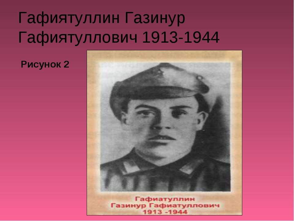 Гафиятуллин Газинур Гафиятуллович 1913-1944 Рисунок 2
