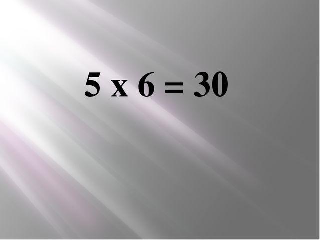 5 х 6 = 30