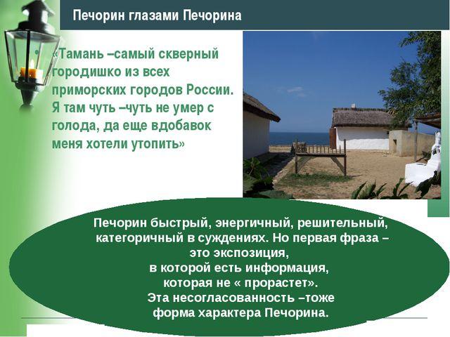 www.themegallery.com Company Logo Печорин глазами Печорина «Тамань –самый скв...