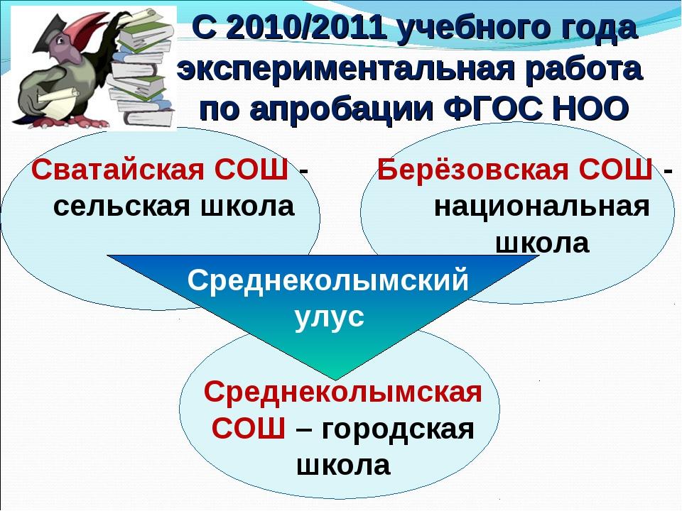 Среднеколымский улус С 2010/2011 учебного года экспериментальная работа по а...