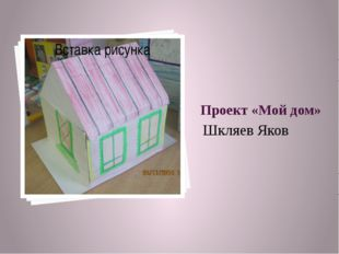 Проект «Мой дом» Шкляев Яков