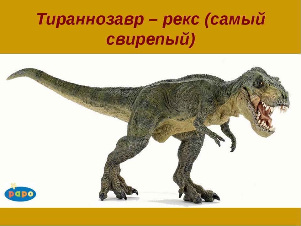 Тираннозавр – рекс (самый свирепый)