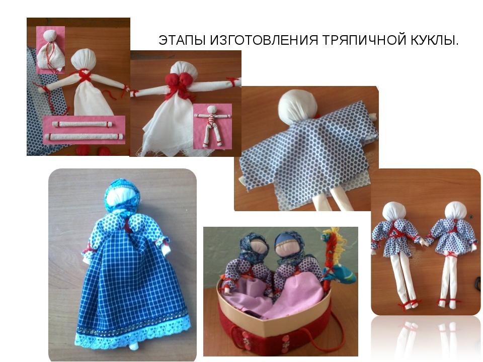 Как сделать куклу тряпочную