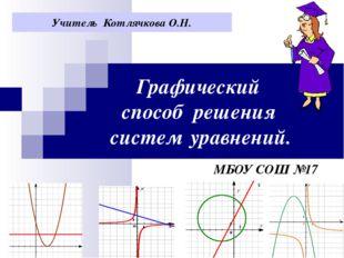 Графический способ решения систем уравнений. МБОУ СОШ №17 Учитель Котлячкова