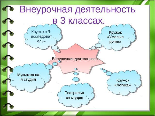 Внеурочная деятельность в 3 классах. Внеурочная деятельность Кружок «Умелые р...