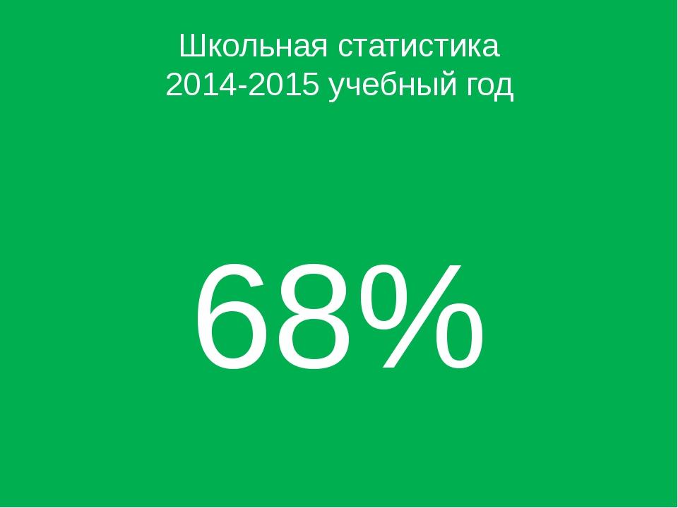 Школьная статистика 2014-2015 учебный год 68%