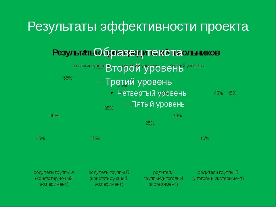 Результаты эффективности проекта
