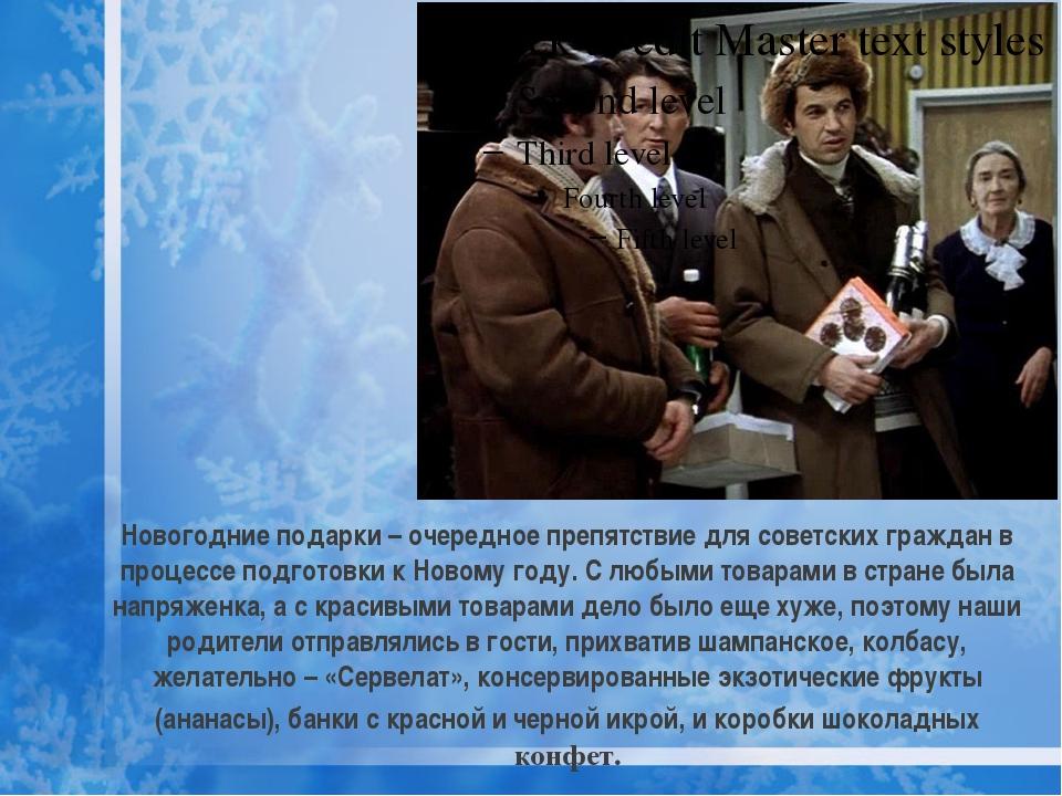 Новогодние подарки – очередное препятствие для советских граждан в процессе п...