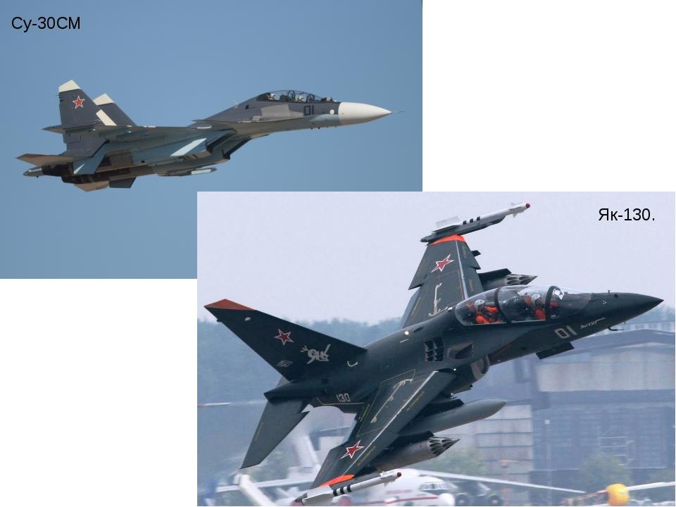Су-30СМ Як-130.