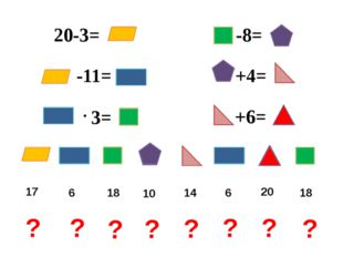 20-3= -11= 3= -8= +4= +6= 17 6 6 18 18 10 14 20 ? ? ? ? ? ? ? ?