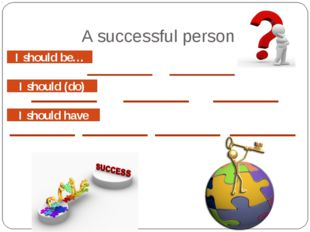 A successful person I should be… I should (do) I should have