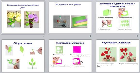 Презентация Цветы из гофрированной бумаги