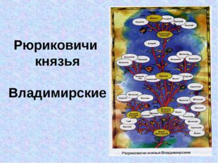 Рюриковичи князья Владимирские