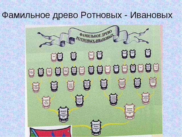 Фамильное древо Ротновых - Ивановых