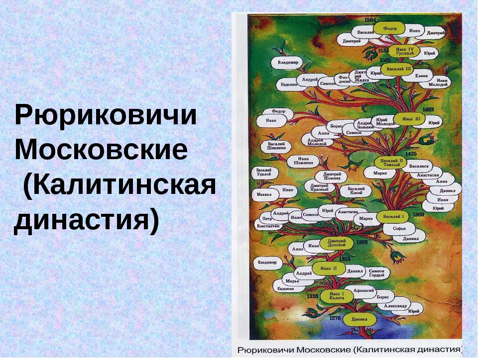 Рюриковичи Московские (Калитинская династия)