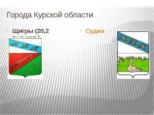 Города Курской области Щигры (20,2 тыс.чел.) Суджа