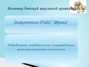 Визитка детской школьной организации