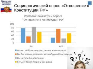 Социологический опрос «Отношение к Конституции РФ»