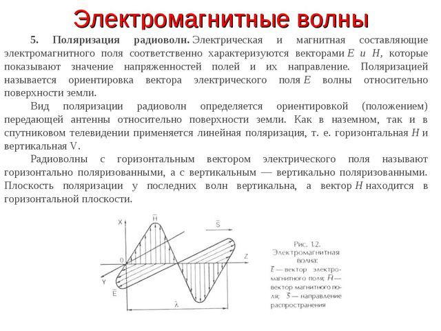 Электромагнитные волны 5. Поляризация радиоволн.Электрическая и магнитная со...