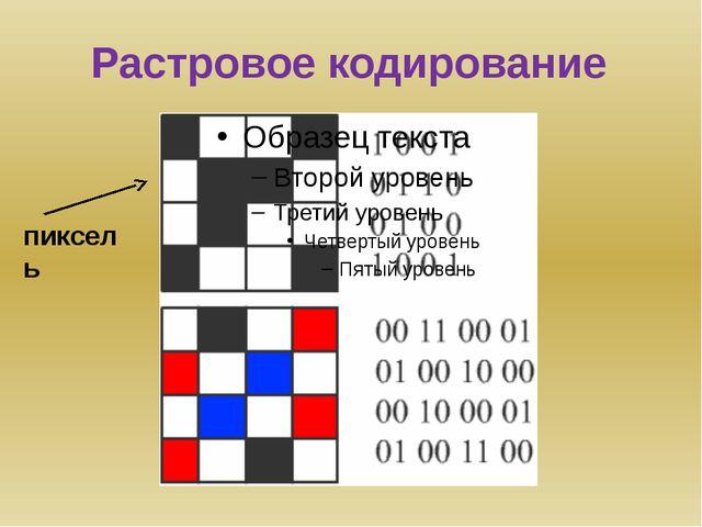 Растровое кодирование пиксель