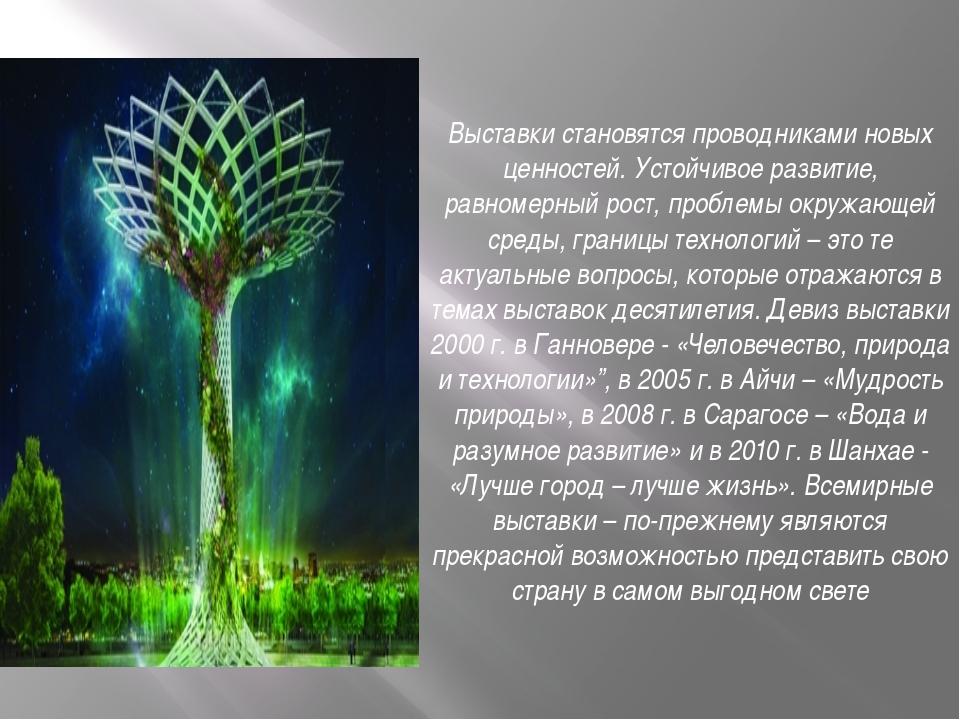 Выставки становятся проводниками новых ценностей. Устойчивое развитие, равном...