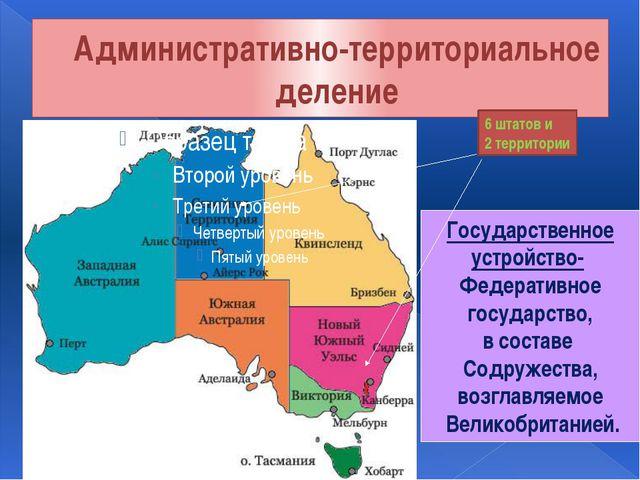 Административно-территориальное деление Государственное устройство- Федератив...