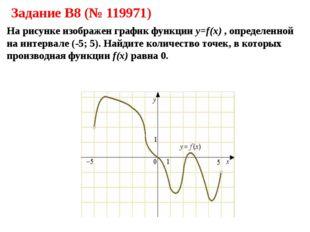 Задание B8 (№ 119971) На рисунке изображен график функции y=f(x) , определенн