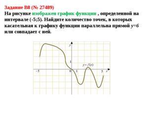 Задание B8 (№ 27489) На рисунке изображен график функции , определенной на ин
