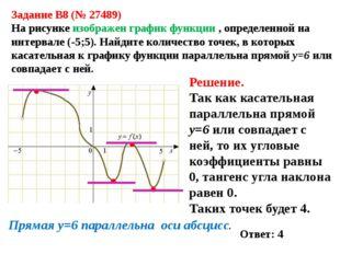 Задание B8 (№ 27489) На рисунке изображен график функции , определенной на и
