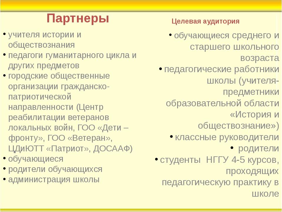 Партнеры учителя истории и обществознания педагоги гуманитарного цикла и друг...