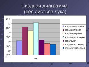 Сводная диаграмма (вес листьев лука)