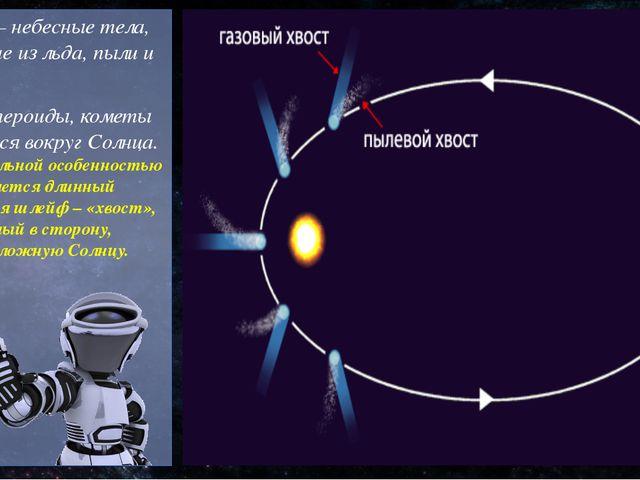 Кометы – небесные тела, состоящие из льда, пыли и газов. Как и астероиды, ком...