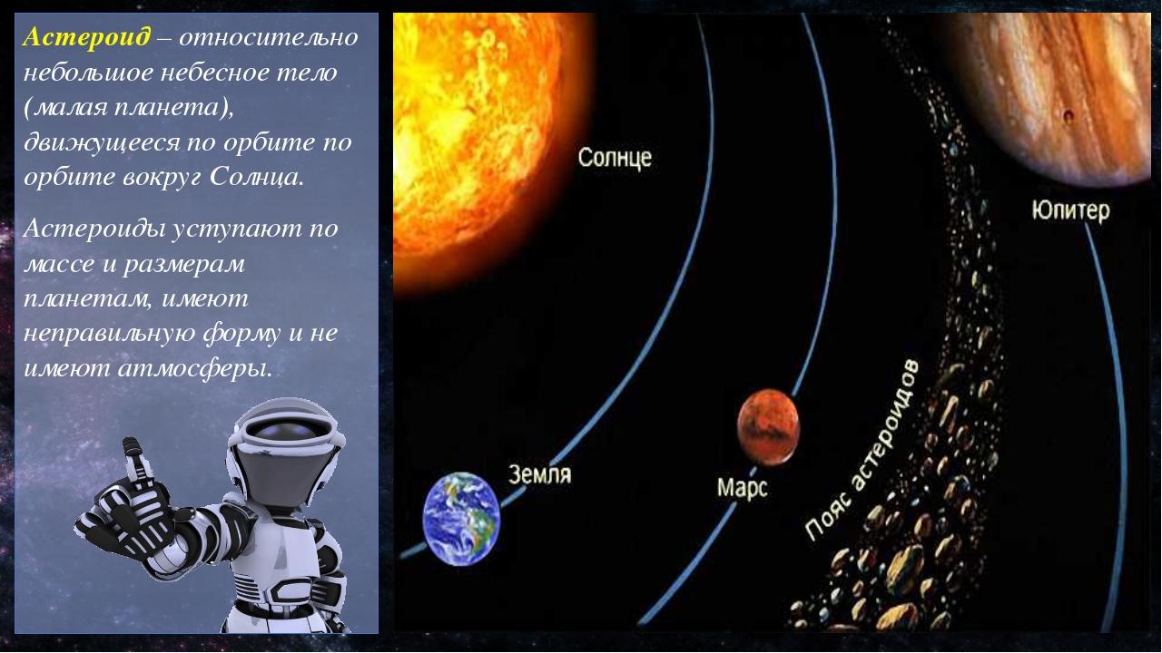 Астероид – относительно небольшое небесное тело (малая планета), движущееся п...