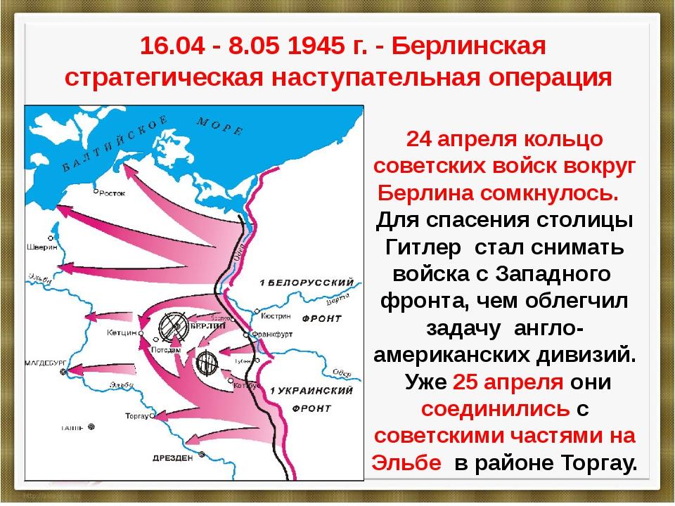 16.04 - 8.05 1945 г. - Берлинская стратегическая наступательная операция 24 а...