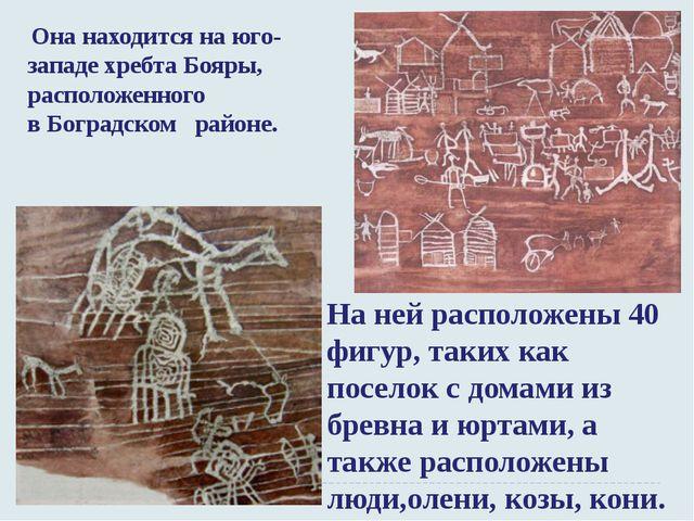 Она находится на юго-западе хребта Бояры, расположенного вБоградском районе...