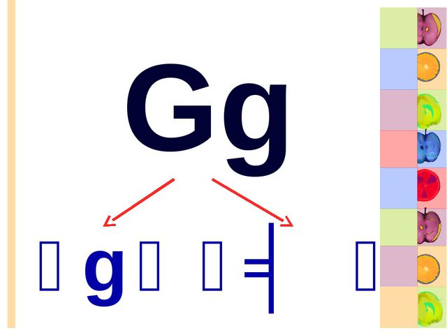 Gg [g] [ʤ]